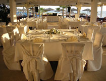 Wedding reception at the Adams Beach Hotel