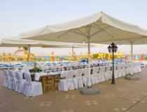 A splendid wedding reception setting at Asterias Beach Hotel, Ayia Napa, Cyprus