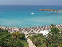 Stunning beachside setting at Nissi Beach Hotel