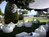Beautiful garden setting for a wedding reception