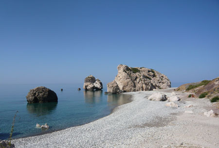 Aphrodite's Rock, one of the many romantic spots on the island of Cyprus