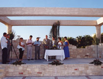 A wedding ceremony taking place at the hotel's amphitheatre