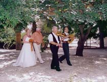 Local musicians at a wedding in Peyia, Cyprus