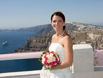 Wedding flowers, Santorini
