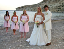 Mr & Mrs Windass and their lovely bridemaids