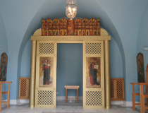 The interior of the on-site chapel