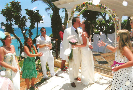 Planet Holidays Mr Mrs Smith On Their Wedding Day At The Golden Coast Hotel Protaras