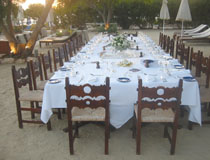 A superb wedding reception on the beach at Annabelle, Paphos