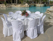 Wedding reception by the poolside at RIU Cypria Resort, Paphos, Cyprus
