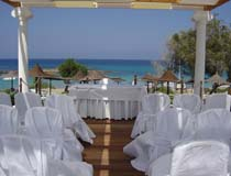 A sea view setting for the wedding gazebo at Capo Bay