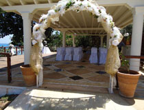 A pretty setting for a civil ceremony at the Golden Coast