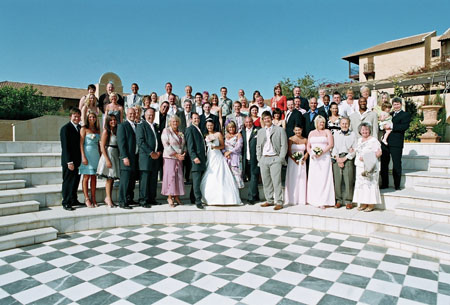 A stunning wedding party celebrated Mr & Mrs Williams' special day in Cyprus