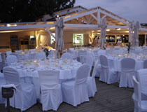 Evening wedding reception at Skiathos Princess Hotel, Skiathos