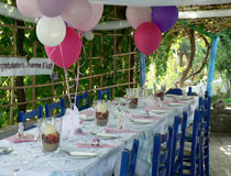 Wedding reception at a taverna in Zante