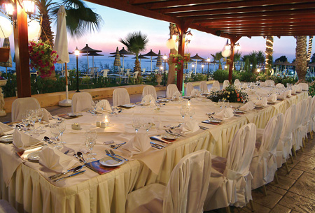 Wedding reception at Alexander The Great Beach Hotel, Paphos, Cyprus