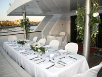 Wedding reception on board a luxurious yacht in Cyprus