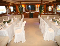 Wedding reception on board a luxurious yacht, Cyprus