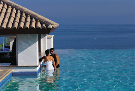 The infinity pool at Anassa, Cyprus