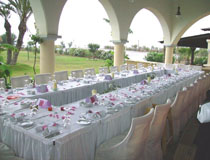 The Asterias restaurant is a perfect venue for your wedding reception at Atrium Palace