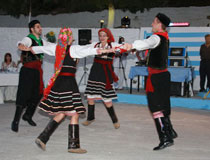 Local dancers at the taverna