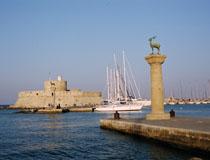 Rhodes harbour - a splendid setting for wedding photos