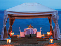 A perfect setting for a very romantic meal