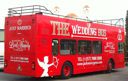 The Wedding Bus An Open Top Double Decker Is Now Available To Hire In Cyprus