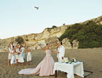 Beach wedding at Anassa