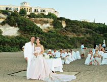 Beach wedding at Anassa for Mr & Mrs French