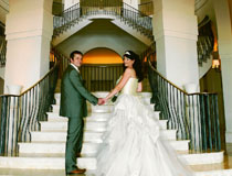 Mr & Mrs Reid on their wedding day at Anassa