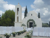 The wedding chapel at Anassa