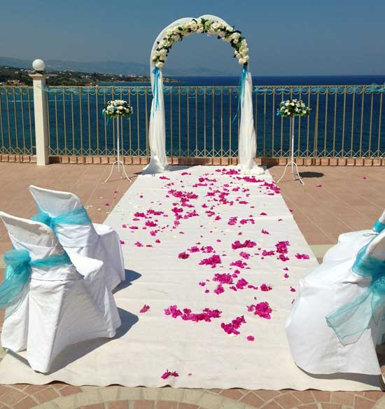 Planet weddings planet holidays wedding planners in for The balcony zante