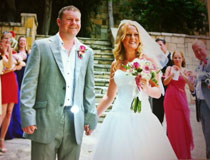 Mr & Mrs Webb on their day at Peyia Town Hall